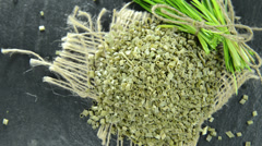 Heap of dried chive (not loopable) Stock Footage