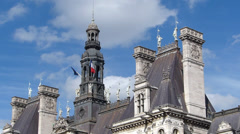 Paris City Hall - stock footage