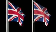 Stock Video Footage of World flags loop pack 6 in 1 with alpha screen and 7sec loop