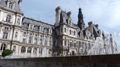 Paris City Hall - stock footage
