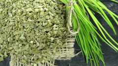 Portion of dried chive (not loopable) Stock Footage