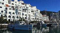Gibraltar, Queensway Quay Marina Stock Footage