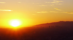 Sunset from Building Top Time Lapse Stock Footage