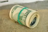Dollars roll Stock Photos