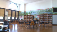 Stock Video Footage of Chicago Public School Library