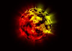 Burning planet Stock Illustration