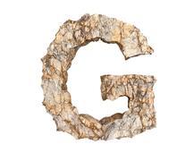 stone letter G - stock illustration