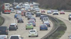 Rush hour Motorway/Highway traffic - evening Stock Footage