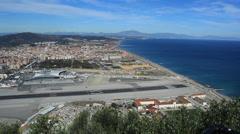 Gibraltar airstrip - stock footage