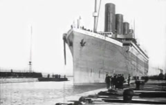 Titanic Original Historical Cleaned 2 - Workers at the dockyards in Belfast Stock Footage