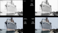 Overview Titanic Original Historical Cleaned 1 - Belfast - Circa April 1912 Stock Footage