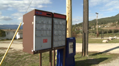 Rural Canadian mailbox, Canada Post Stock Footage