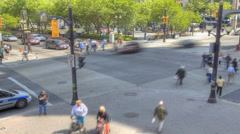 A timelapse of a busy city intersection Stock Footage