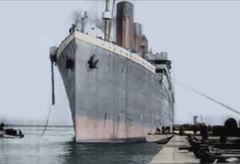 Titanic Ship Original Historical Coloured 1 b Stock Footage