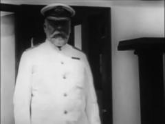Titanic Original Historical Cleaned 2 - Captain Smith On Deck Of RMS Olympi Stock Footage