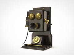 Stock Illustration of old vintage telephone