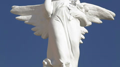 Sculpture of an angel Stock Footage