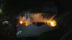 Balcony of a beach hotel Stock Footage