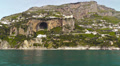 Sailing along Amalfi coast. Footage