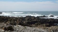 Rocky coast off northern California Stock Footage