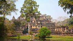 Bayon temple, angkor wat Stock Footage