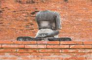 Stock Photo of image buddha in temple at Ayutthaya,Thailand