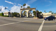 Stock Video Footage of Paramount Pictures Movie Studio Lot Melrose Gate And Melrose Avenue