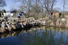 Prune rock garden Stock Photos