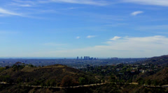 Westward View Of Los Angeles West Hollywood From Griffith Park Stock Footage