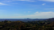 Stock Video Footage of Westward View Of Los Angeles West Hollywood From Griffith Park