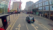 Stock Video Footage of london double decker bus drive view from upper deck