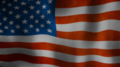 American flag wavey in the wind, Stars and stripes HD Stock Footage