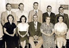 1950 Family Portrait Vintage Kuvituskuvat