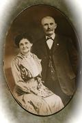 Turn of the Century Married Portrait Sepia Vintage - stock photo