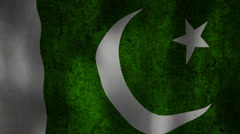 Pakistani flag waving HD Stock Footage