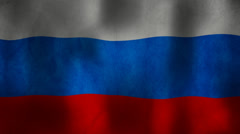 Russian flag waving HD Stock Footage