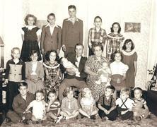 1950 Family Portrait Lastenlapset Kuvituskuvat