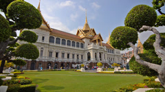 The grand palace in bangkok Stock Footage