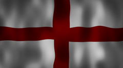 English flag waving HD Stock Footage