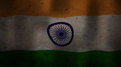 Indian flag waving HD Stock Footage