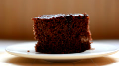 Brown domestic cake Stock Footage
