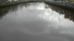 The Liffey River Dublin Stock Footage