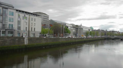 The Liffey River Dublin - stock footage