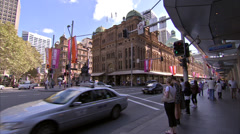 Intersection and Queen Victoria Building Stock Footage