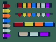 Web elements - stock illustration