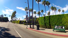 Car Driving By Paramount Studios On Melrose Avenue- Los Angeles CA Stock Footage