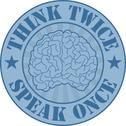 Stock Illustration of Think twice, speak once