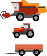 Agriculture vehicles Stock Illustration