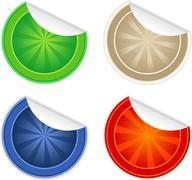 Round Stickers - stock illustration