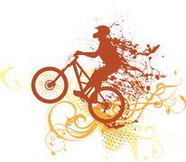 Splash biker - stock illustration